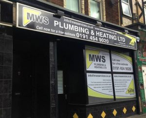Signage done for MWS Plumbing